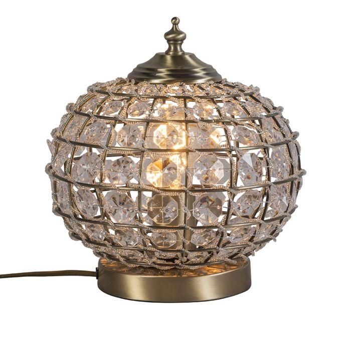 Tischlampe-Billy-Gold