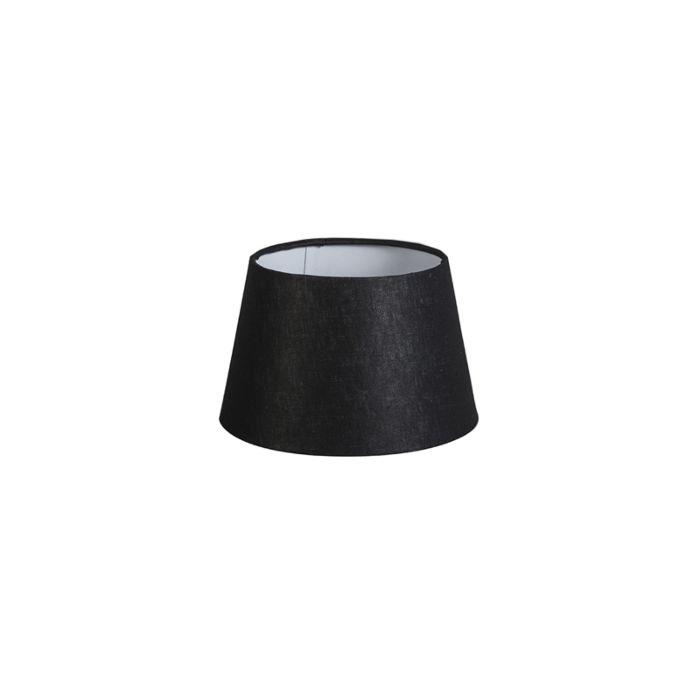 Lampenschirm-20cm-rund-leinen-schwarz