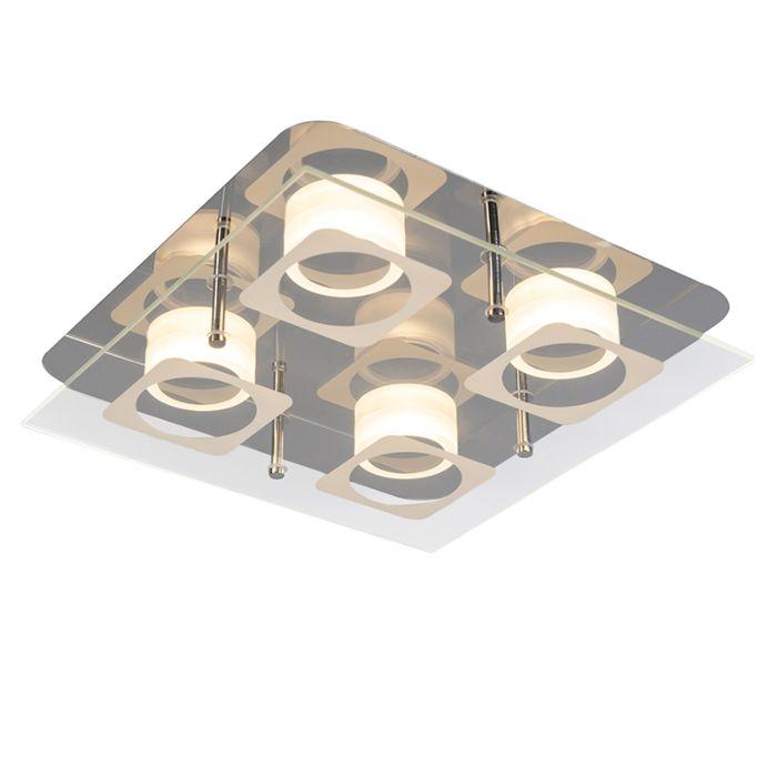 Deckenleuchte-Vidrio-4-Stahl