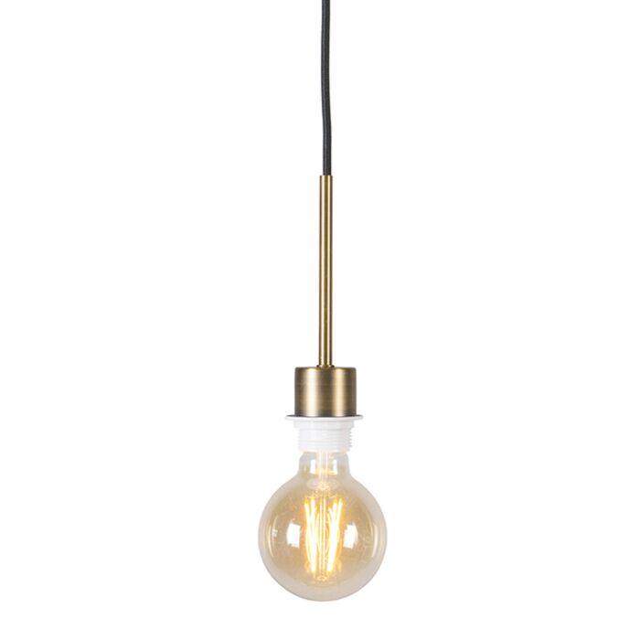 Moderne-Hängelampe-Bronze-mit-schwarzem-Kabel---Combi-1