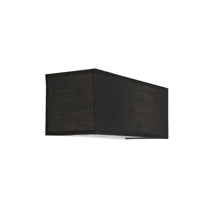 Wandleuchte-Drum-Basic-Rechteck-schwarz
