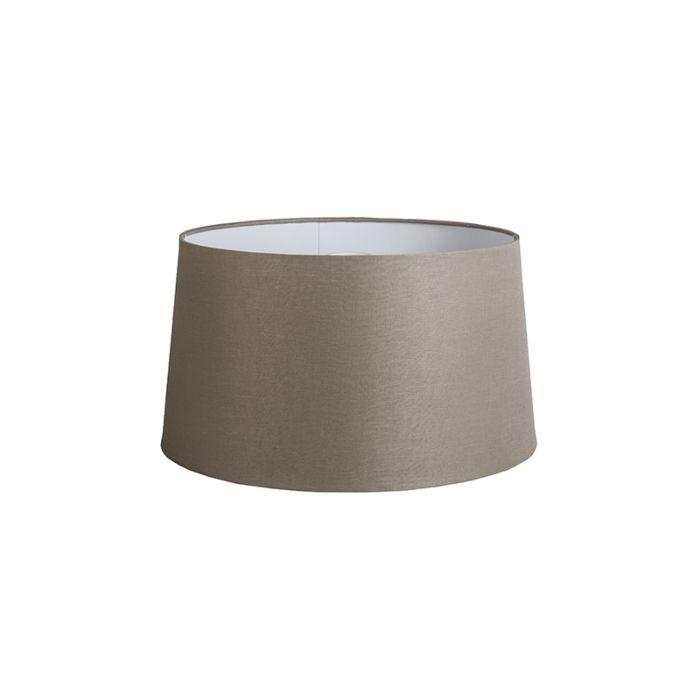 Taupe-Leinen-Lampenschirm-45-cm