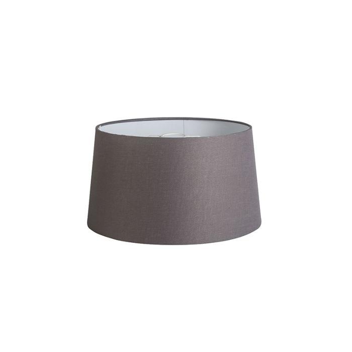 Lampenschirm-40cm-rund-DS-E27-Leinen-braungrau