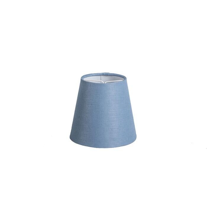 Klemmschirm-12cm-rund-SC-leinen-blau