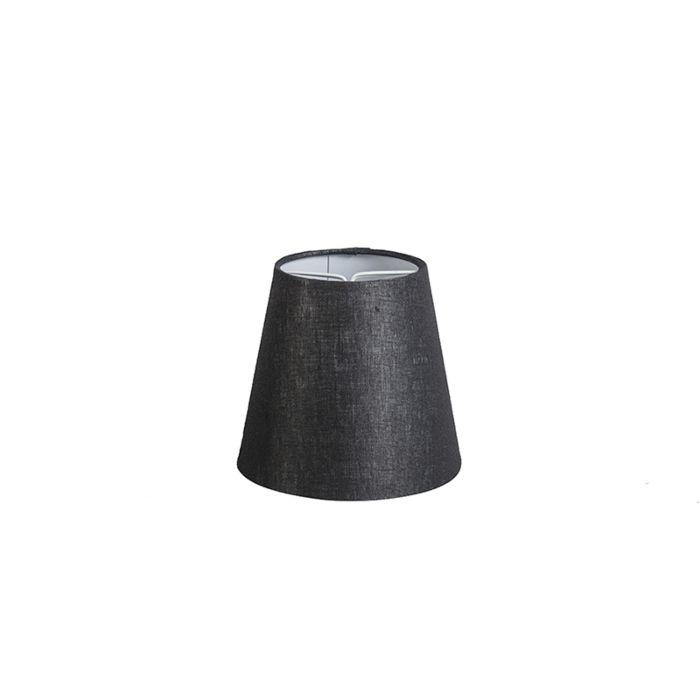 Leinenklemmschirm-schwarz-ca.-12-cm