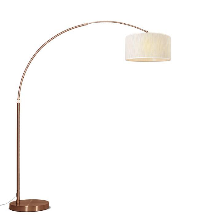 Bogenlampe-Kupfer-mit-Schirm-hellbraun