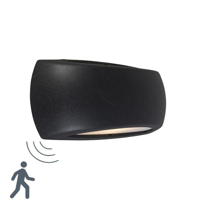 Francy-schwarze-Wandleuchte-mit-Bewegungssensor