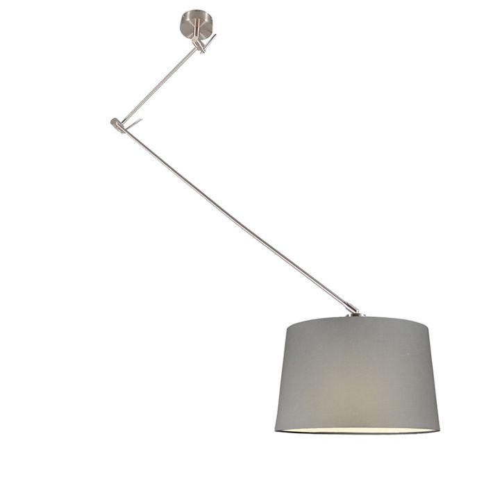 Blitz-Stahl-Hängelampe-mit-Schirm-40cm-grau