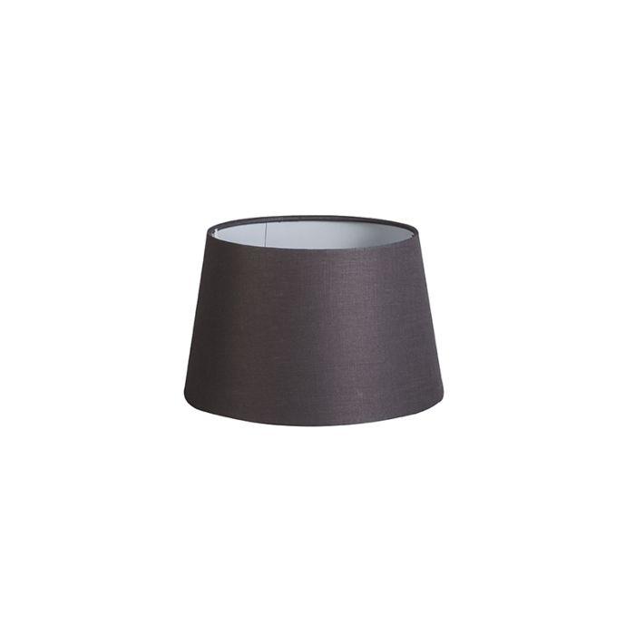 Lampenschirm-25cm-rund-DS-E27-Leinen-braungrau