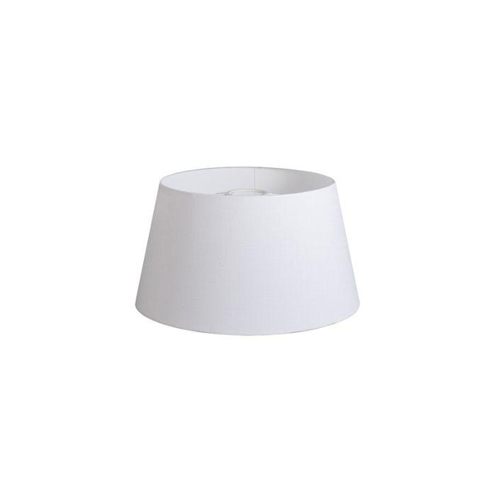 Lampenschirm-32cm-rund-DS-E27-Leinen-weiß