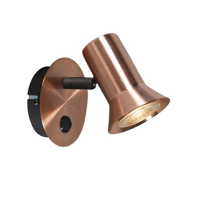 Wandstrahler-Kupfer-drehbar-und-neigbar-mit-Schalter---Karin-1