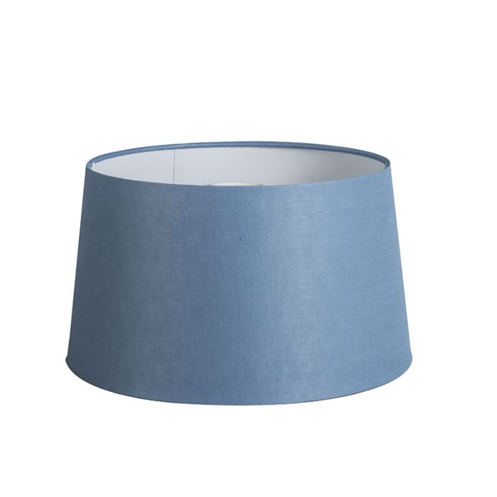 Lampenschirm-35cm-rund-DS-E27-Leinen-blau