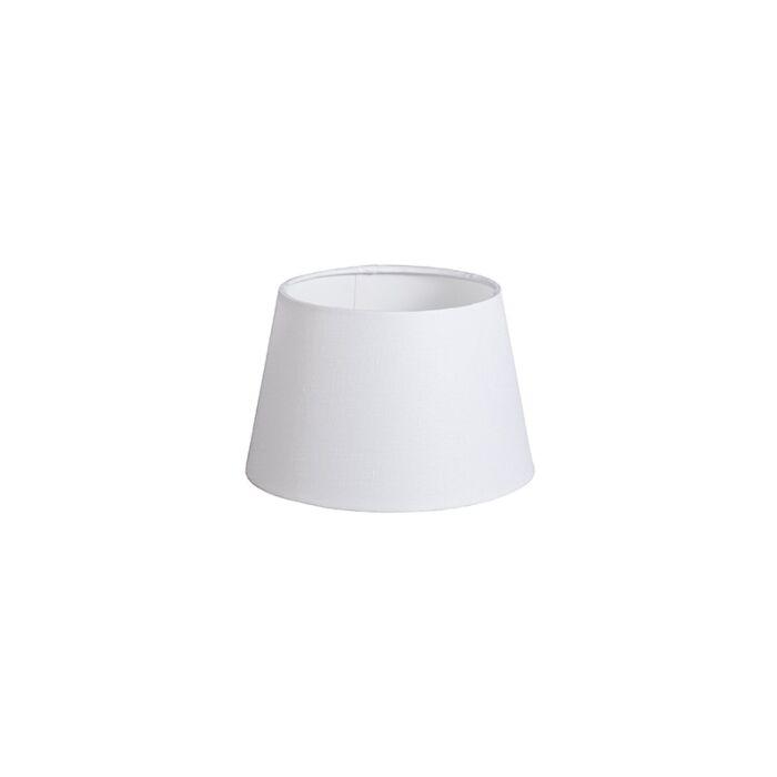 Lampenschirm-20cm-rund-DS-E27-leinen-weiß