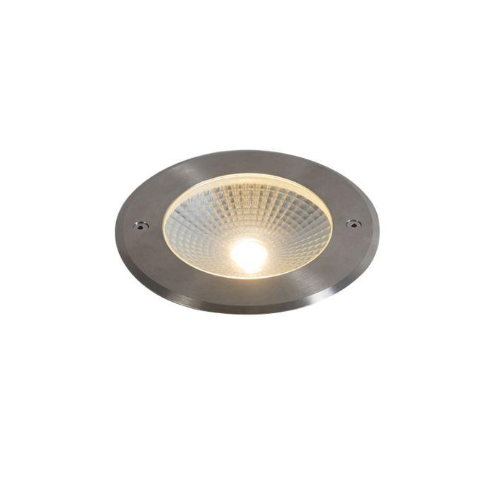 Moderner-Bodenstrahler-für-den-Außenbereich-Aluminium-inkl.-LED-10W---Bridge