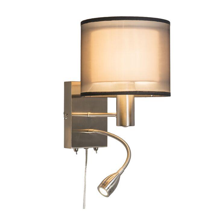 Iseo-Wandleuchte-mit-Schirm-und-LED-Leselampe