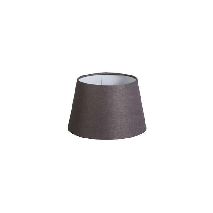 Lampenschirm-20cm-rund-DS-E27-leinen-braun-grau