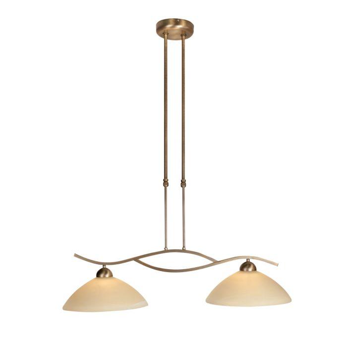 Klassische-Hängelampe-Bronze-mit-Schiebestange-2-Licht---Corsaire