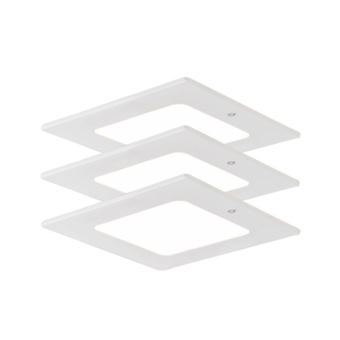 Einbauspot-Radem-square-4W-3er-Set