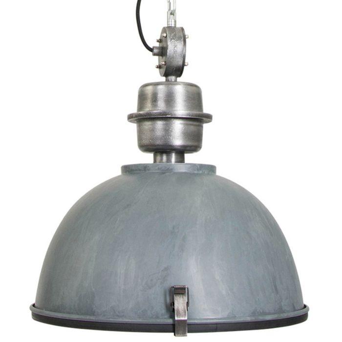 Industrielle-Hängelampe-betongrau-mit-Stahl---Gospodin
