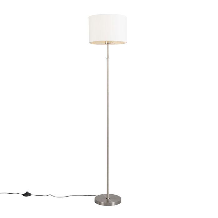 Moderne-Stehleuchte-weiß-rund---VT-1