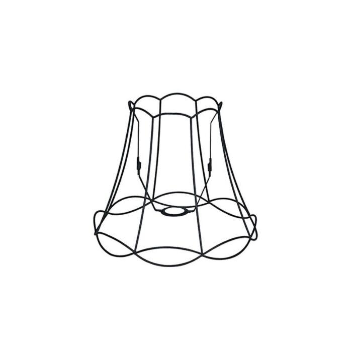 Lampenschirm-aus-Metall-schwarz-35/29---Granny-Frame