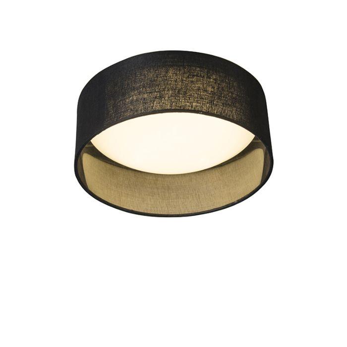 Deckenleuchte-schwarz-28-cm-inkl.-LED---Drum-Combi