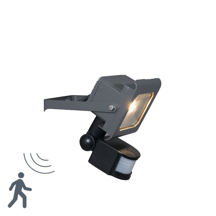 LED-Strahler-Radius-2-10W-PIR-dunkelgrau