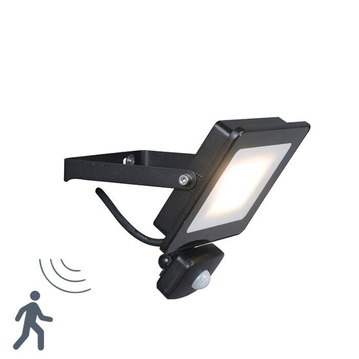 LED-Strahler-Radius-1-20W-PIR-schwarz