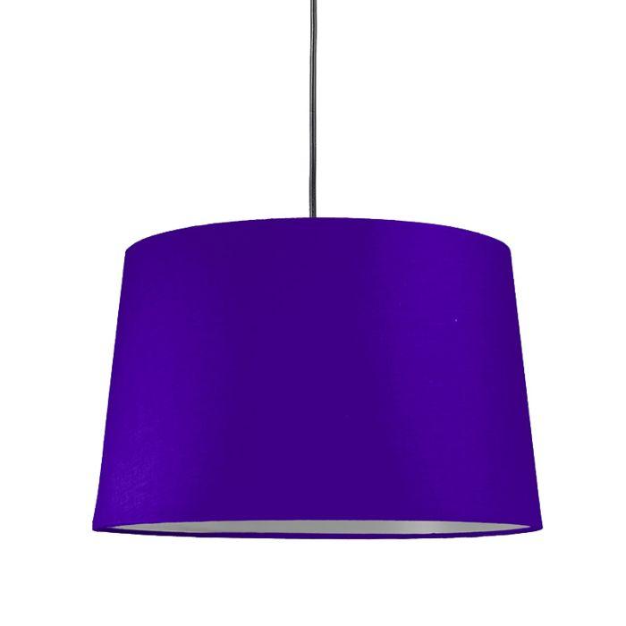 Pendelleuchte-mit-Schirm-violett-rund-40cm