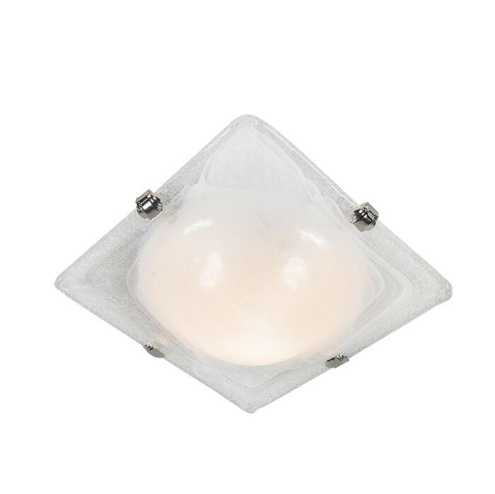 Deckenleuchte-Quadrata-30-Glas-mit-Chrom