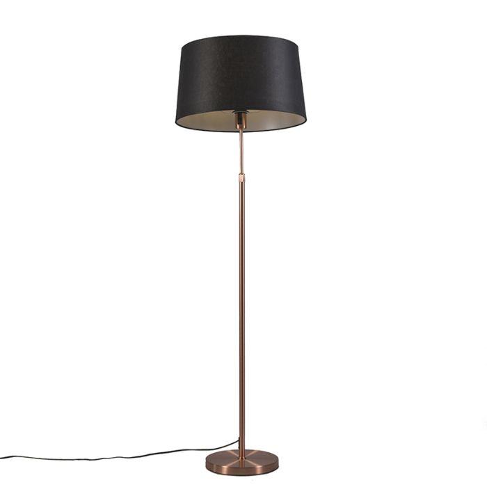 Kupfer-Stehlampe-mit-Schirm-schwarz-45-cm-verstellbar---Parte