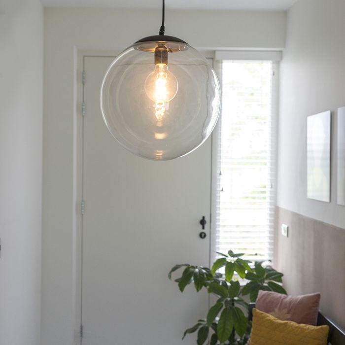 Moderne-Hängelampe-transparent-35-cm---Pallon