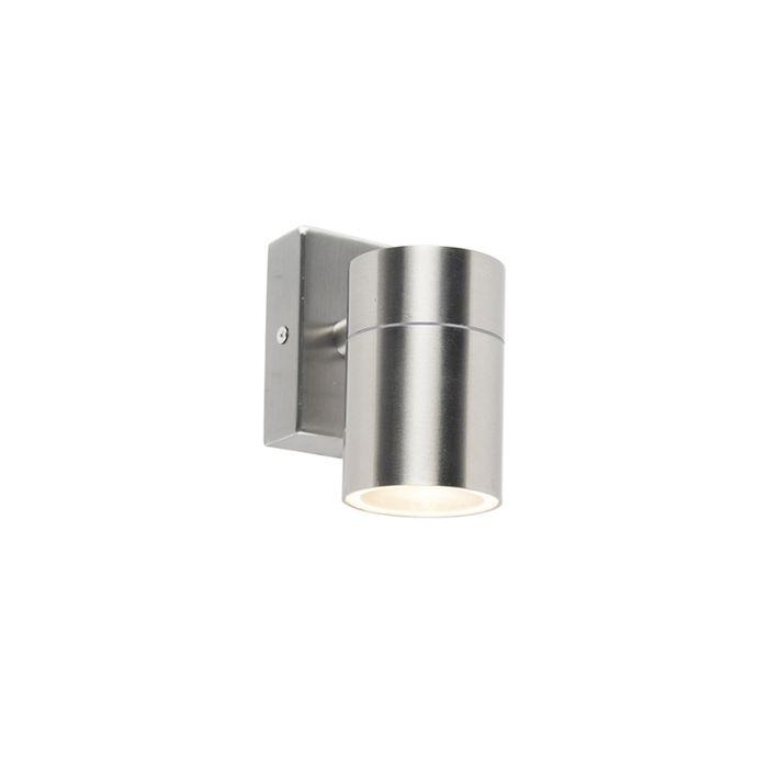 Moderne-Außenwandleuchte-Stahl-Edelstahl-IP44---Solo