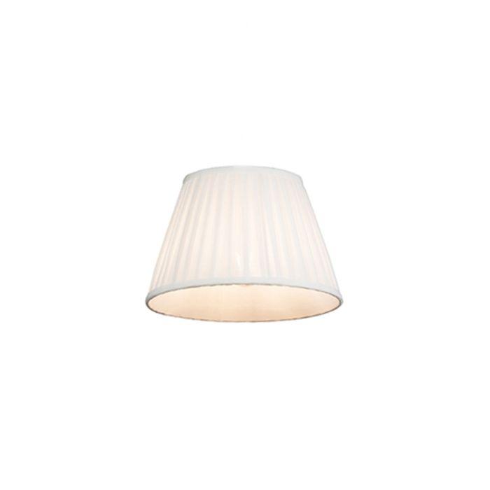 Plissee-Lampenschirm-weiß-25-/-16,5-cm