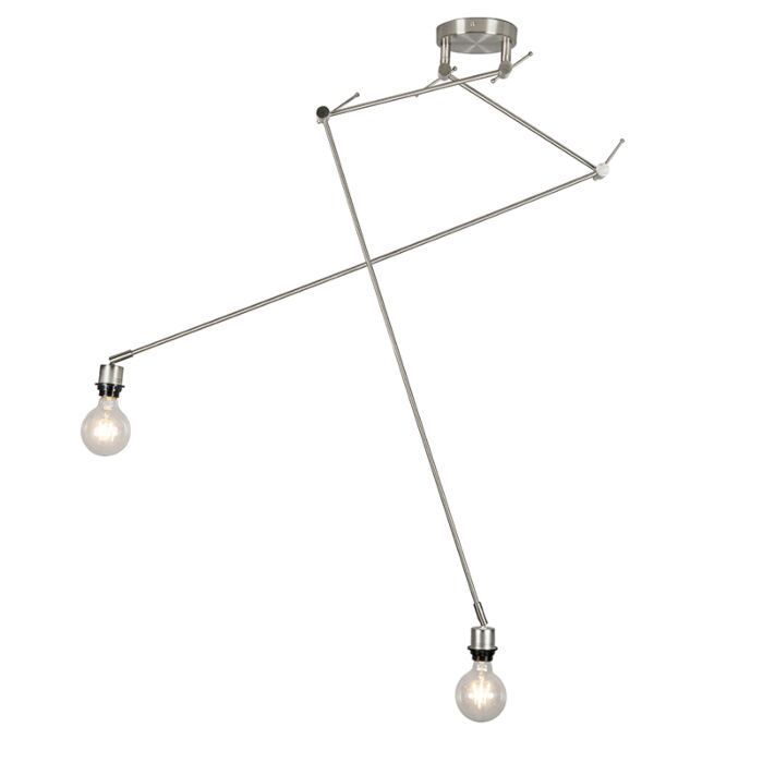 Moderne-Hängelampe-Stahl-ohne-Schirm---Blitz-II
