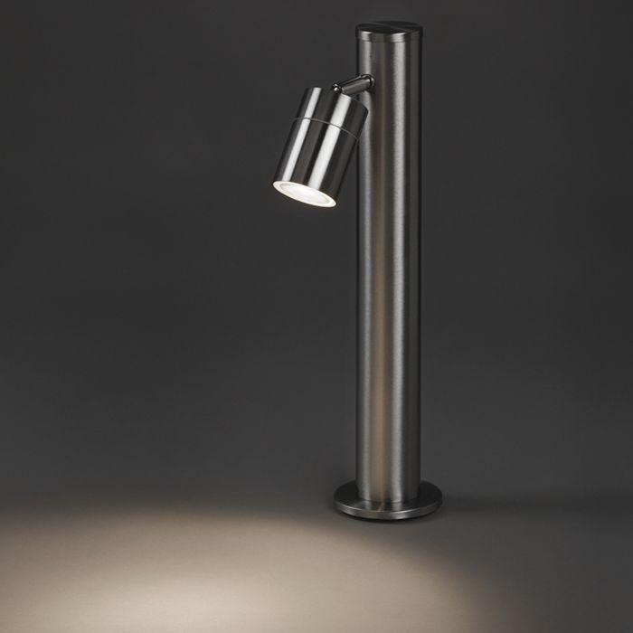 Moderne-Außenleuchte-Stahl-45-cm-verstellbar---Solo