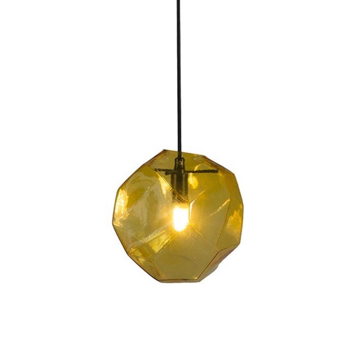 Pendelleuchte-Diamante-gelb