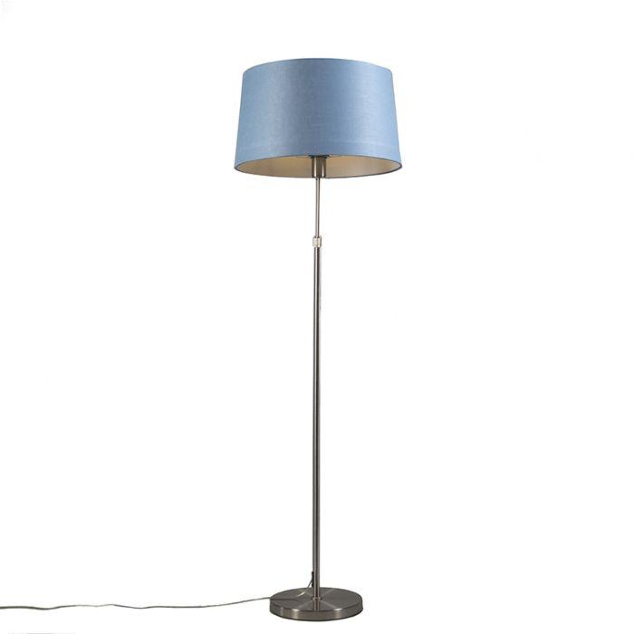 Stehleuchte-Stahl-mit-Schirm-blau-45-cm-verstellbar---Parte