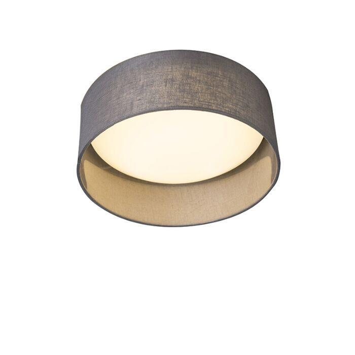 Deckenleuchte-grau-28-cm-inkl.-LED---Drum-Combi