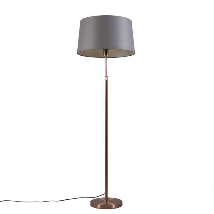 Kupfer-Stehleuchte-mit-Schirm-grau-45-cm-verstellbar---Parte