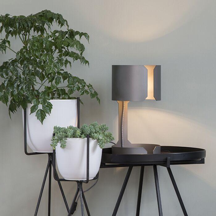 Design-Tischleuchte-Stahl-matt---Waltz