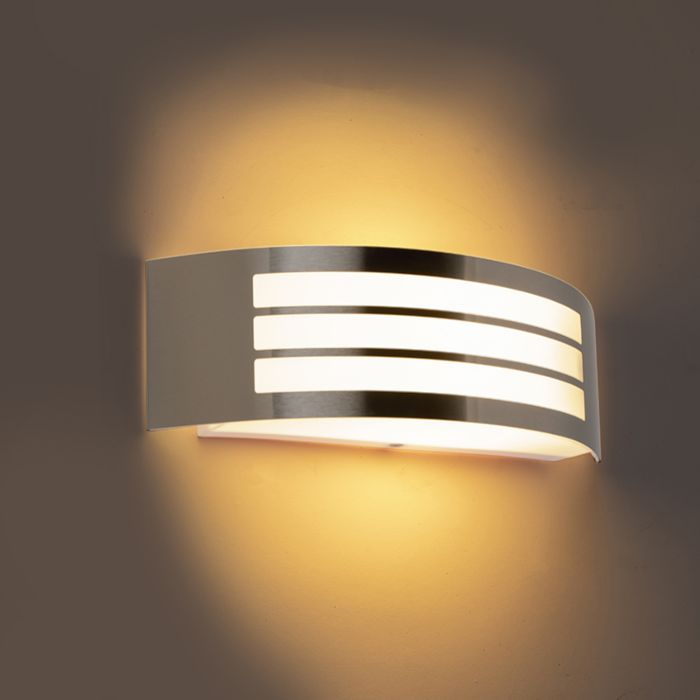 Moderne-Wandleuchte-Stahl-Edelstahl-IP44---Sapphire-Deluxe
