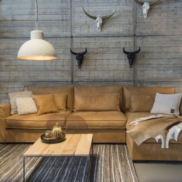 Industrielle-hängende-Lampe-grau-mit-kupfernem-Innenraum---Faltblatt