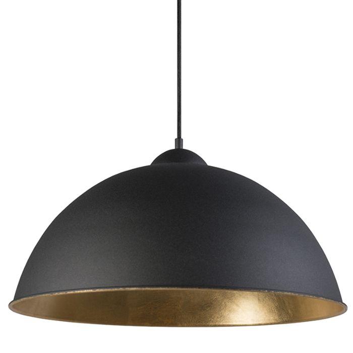 Pendelleuchte-Magna-schwarz-gold