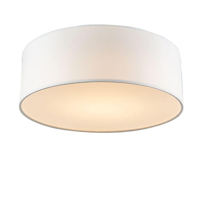 Deckenleuchte-weiß-30-cm-inkl.-LED---Drum-LED