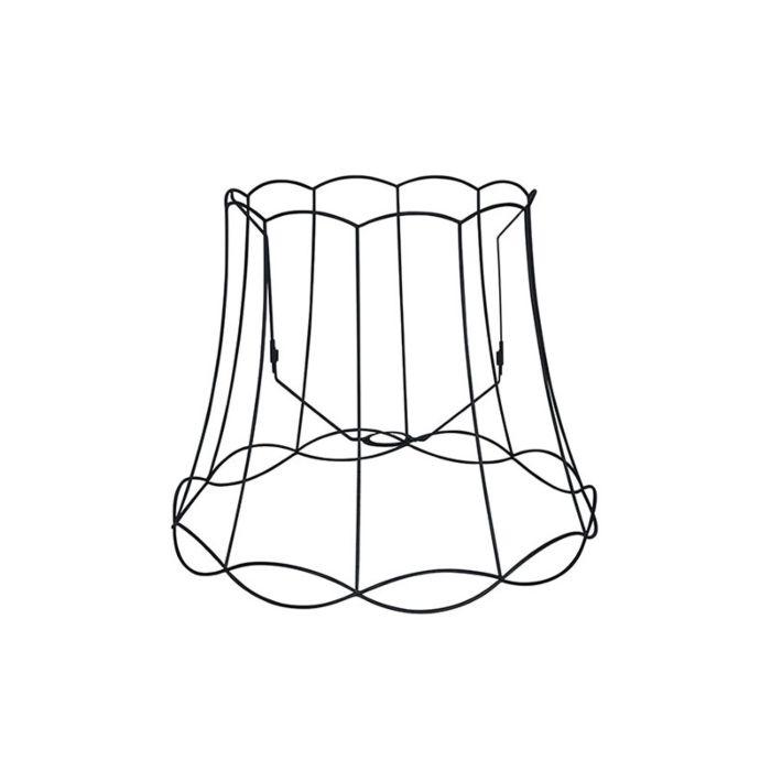 Lampenschirm-aus-Metall-schwarz-50/40---Granny-Frame