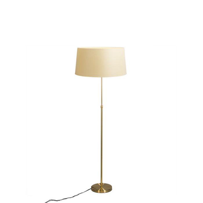 Stehleuchte-gold-/-messing-mit-Schirm-creme-45-cm-verstellbar---Parte