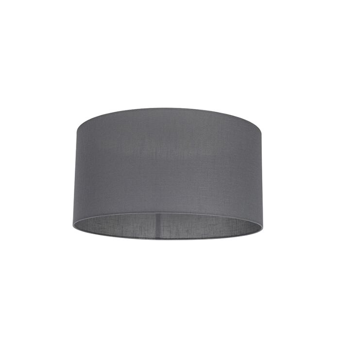 Stoff-Lampenschirm-dunkelgrau-50/50/25
