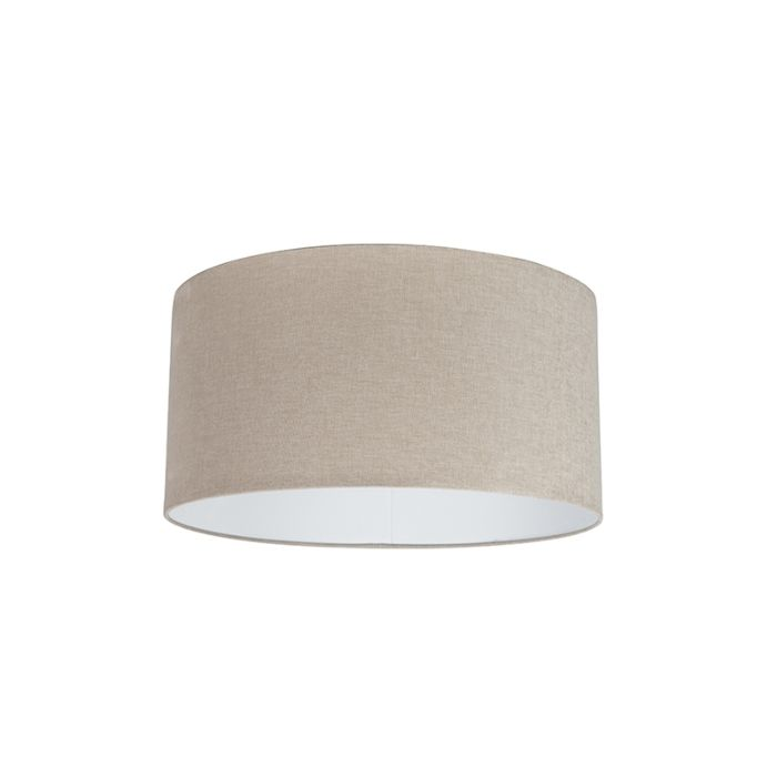 Stoff-Lampenschirm-hellbraun-50/50/25