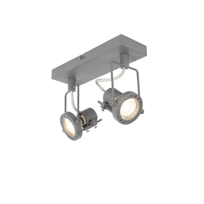 Industriespot-anthrazit-2-Licht-schwenkbar-und-neigbar---Suplux